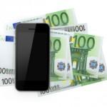 Geldscheine für das alte Handy